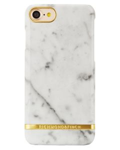 Richmond And Finch Carrera White Marble Glossy iPhone 6/6S/7/8 Cover