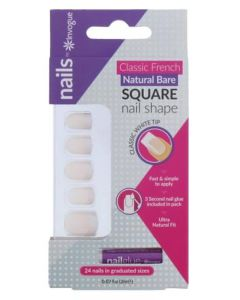 Invogue Classic French Natural Bare Square
