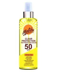 Malibu Clear Protection Sun Spray SPF50 250ml