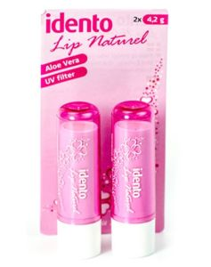 Idento Lip Naturel Aloe Vera Pink 2x4.2g