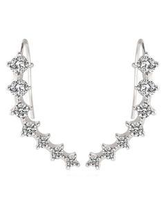 Everneed Athena - sølv øreringe der ligger op ad øret