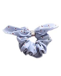 Everneed Bow Scrunchies - Baltic Blue