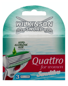 Wilkinson Sword - Quattro for Women - Sensitive 3 pak (U)