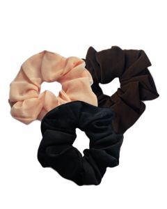 Everneed Scrunchie Coffie Trio - sort, mocca, nude