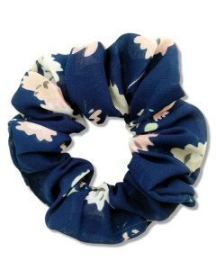 Everneed Scrunchie Flower Navy