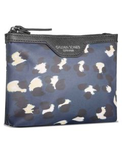 Gillian Jones Makeup Purse Blue Leopard Art: 10065-791