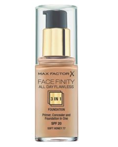Max Factor Facefinity 3-in-1 Foundation Soft Honey 77 - 30 ml
