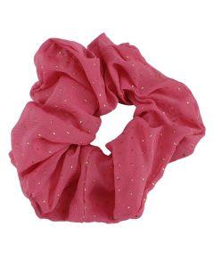 Everneed Scrunchie Pink med Guld Dots