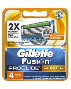 Gillette Fusion Proglide Power 4pak