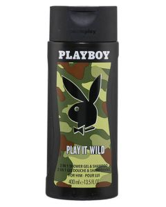 Playboy Play It Wild 2in1 Shower Gel & Shampoo 400 ml