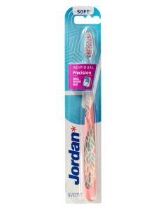 Jordan Tandbørste Individual Reach Pink Soft