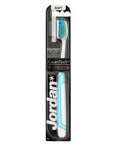 Jordan CleanTech Soft Tandbørste Hvid