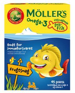 Møllers-Tran-Omega-3-Gelé-Fisk-Frugtsmag-45stk