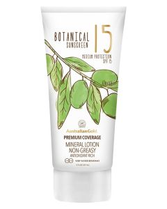 Australian Gold Botanical Sunscreen SPF15 Mineral Lotion Non-Greasy 147 ml