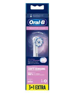 Oral B Sensitive Clean 3+1 Pak Børstehoveder