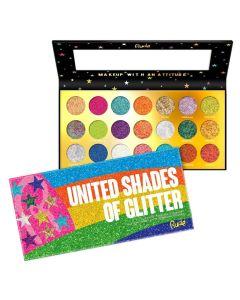 Rude Cosmetics United Shades of Glitter  21 Pressed Glitter Palette