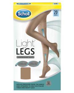 Scholl Light Legs Light Tan (20 Den) Large