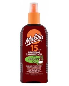Malibu Bronzing Tanning Oil Spray Argan Oil SPF15 200ml