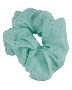 Everneed Scrunchie Mint med Guld Dots