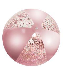 Excellent Houseware Rosa Glitter Badebold
