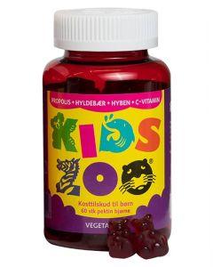 Kids Zoo Propolis/Hylde/Hyben/C-Vitamin Vegetabilsk