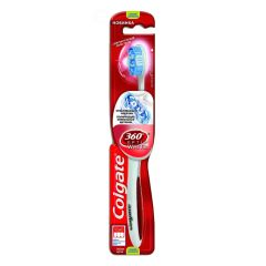 Colgate 360 Optic White Tandbørste - Medium - Rød