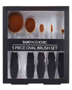Bare Faced Chic 5 Piece Oval Brush Set