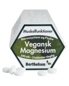 Berthelsen Vegansk Magnesium 240stk