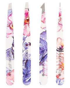 Brushworks The Complete Tweezer Set Flowers 4 stk.