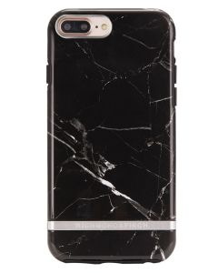 Richmond And Finch Black Marble - Silver iPhone 6/6S/7/8 PLUS Cover