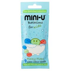MINI-U Bath Fizzy Plops 9 water colour tablets