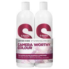 TIGI S-factor Camera Worthy Colour (True Lasting Colour) DUO Pack 750 ml