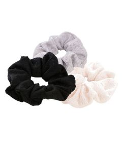 Everneed Scrunchie Sæt - Sort, Grå og Ivory