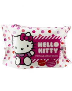 Hello Kitty Hand & Body Wipes 90 stk