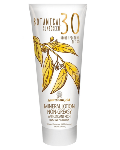 Australian Gold Botanical Sunscreen SPF30 Mineral Lotion Non-Greasy 147 ml