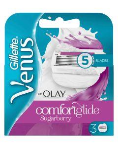 Gillette Venus & Olay Comfortglide Sugarberry Blades 3 stk.