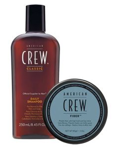 American Crew - Get The Look (Daily Shampoo+Fiber wax) Gift Set