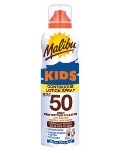 Malibu Kids Continuous Sun Lotion Spray SPF50 175ml