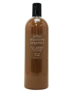 John Masters 2-in-1 Shampoo & Conditioner With Zinc & Sage 1000ml