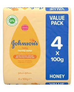 Johnson's Baby Honey Soap 4 x 100g
