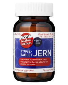 Livol Mono Normal Tyggetablet Jern