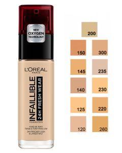 Loreal Infallible Stay Fresh Foundation - Golden Sun 260 30ml