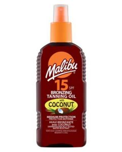 Malibu Bronzing Tanning Oil Spray Coconut SPF 15 200ml