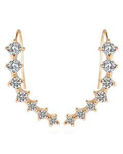 Everneed Athena - guld øreringe der ligger op ad øret