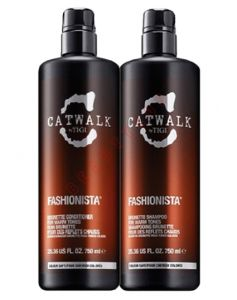 TIGI DUO Catwalk Fashionista Brunette shampoo + conditioner 750 ml