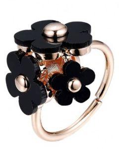 Everneed blomsterring - Sort Honey Daisy Ring (U)
