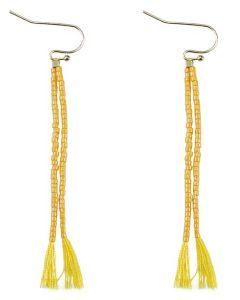 Everneed Nille Tassel øreringe - Yellow  (U)
