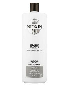 Nioxin 1 Cleanser Shampoo (N) 1000 ml