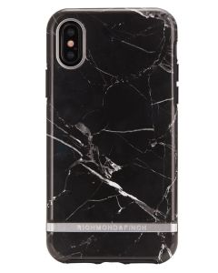 Richmond And Finch Black Marble - Silver iPhone X/Xs Cover
