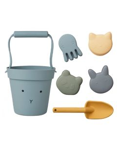 Liewood Silicone Beach Set Blue Mix